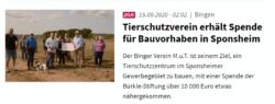 Bürkle Stiftung spendet 10 000 Euro