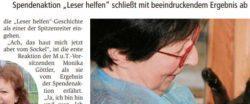 Leser helfen unterstützt Tierschutz in Bingen mit 25 000 Euro