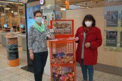 Spendenkorb bei Globus Gensingen